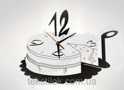 Часы настенные Торт Металл