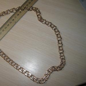 Мощная золотая цепь бисмарк - 132грама